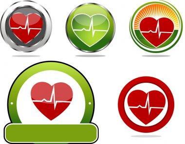 Heart beats symbols