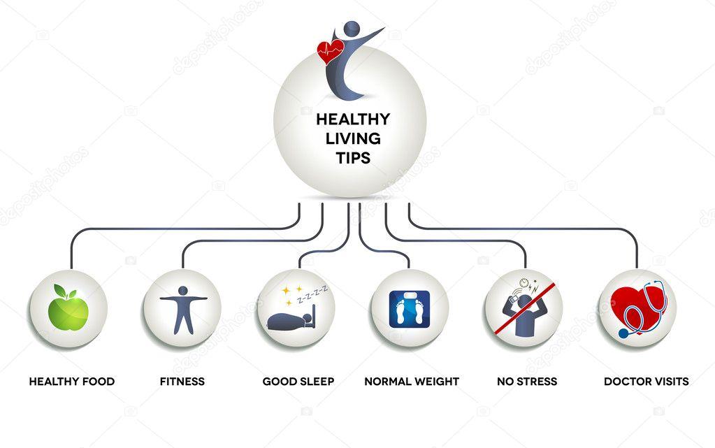 gráfico humano sano — Vector de stock © megija #44355289