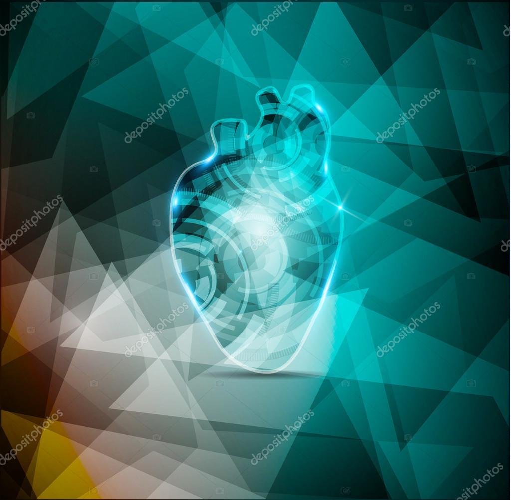 Fondo hermoso Cardiología, anatomía del corazón humano abstracto ...