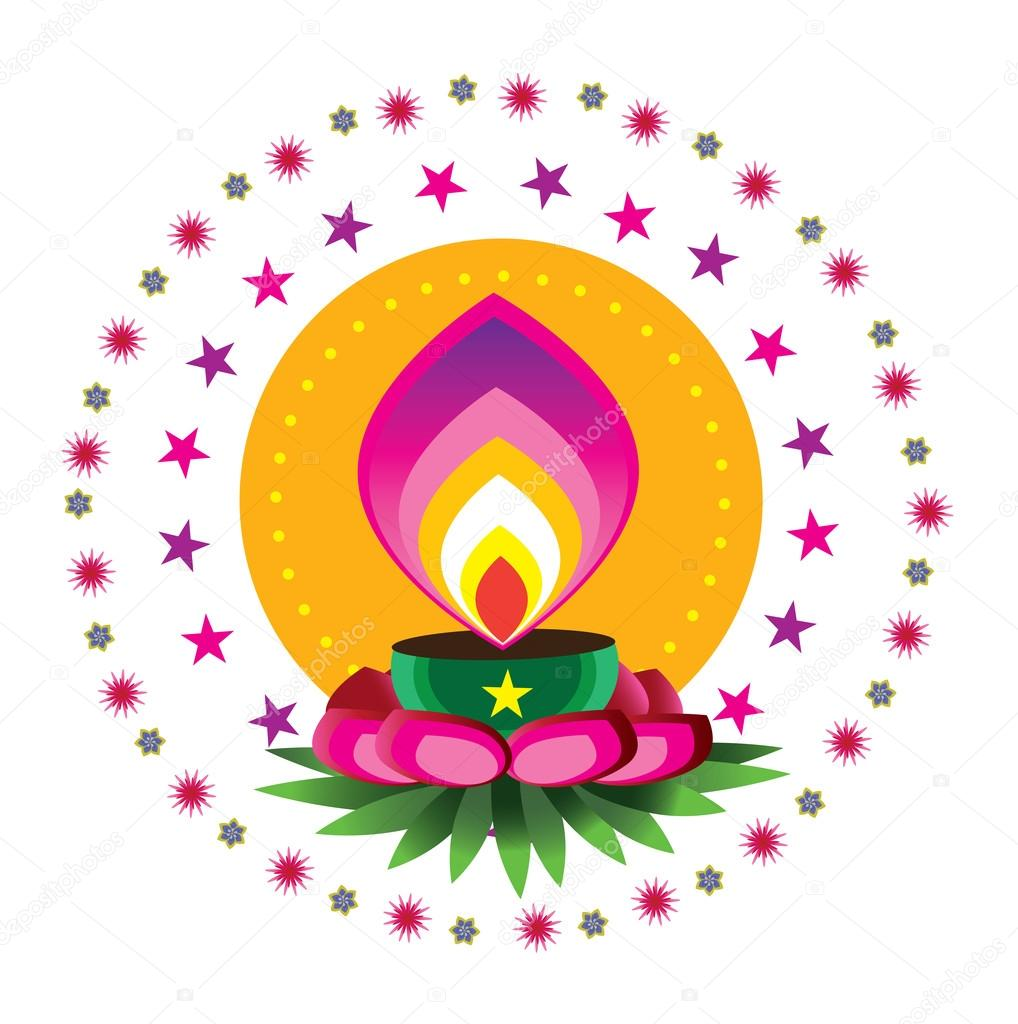 diwali candle light stock vector  u00a9 alkkdsg 21554127 ornament vector ornamental victorian metal roof ridge