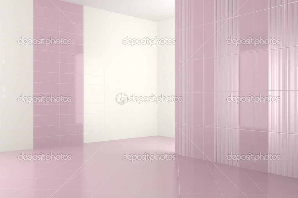 Vuoto moderno bagno con piastrelle viola u foto stock anhoog