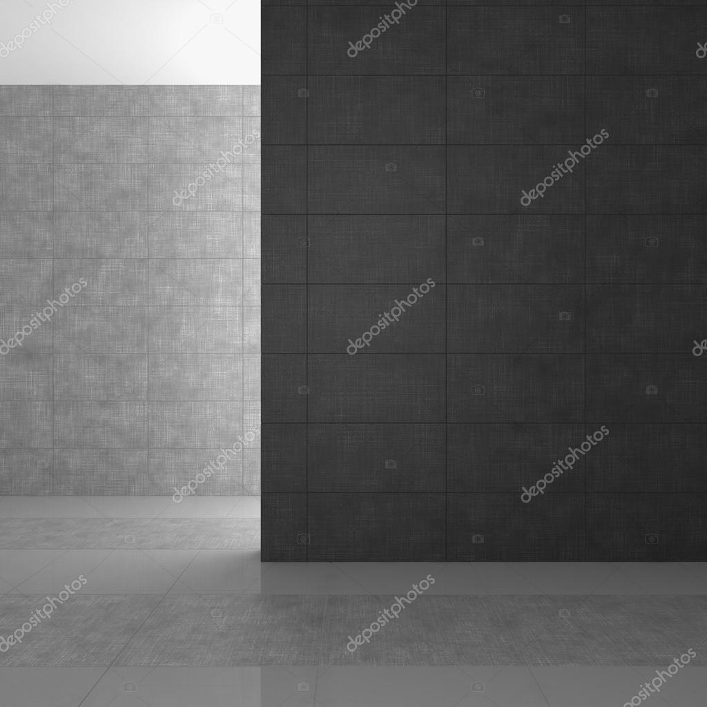 Vuoto moderno bagno con piastrelle grigi foto stock - Stock piastrelle bagno ...