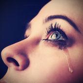 Schönheit Mädchen weinen