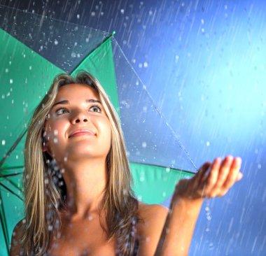 beauty girl with umbrella