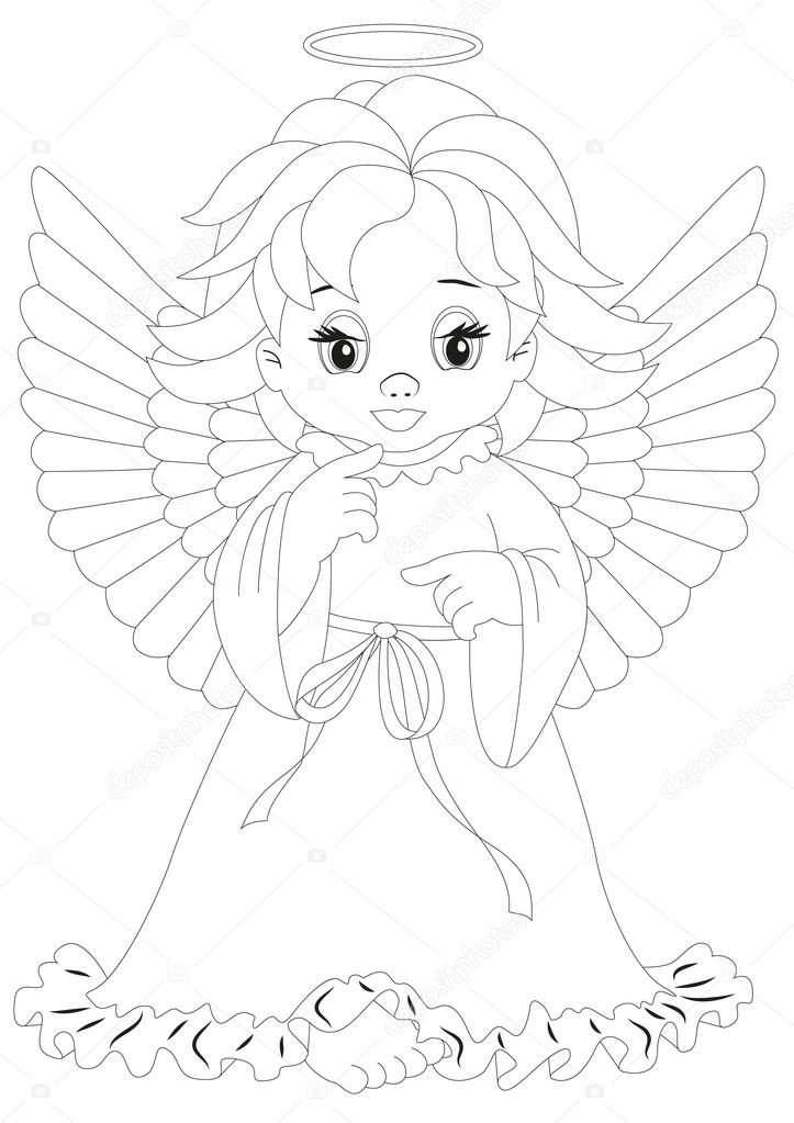 Página para colorear de Angel 8 — Vector de stock © rodakm #29727451