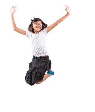 Young Asian Girl Jumping