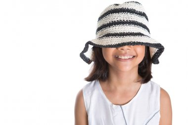 Young Girl With Summer Hat