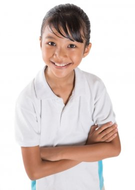 School Girl In School Uniform