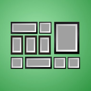 Colorful Wall with empty Picture Frame