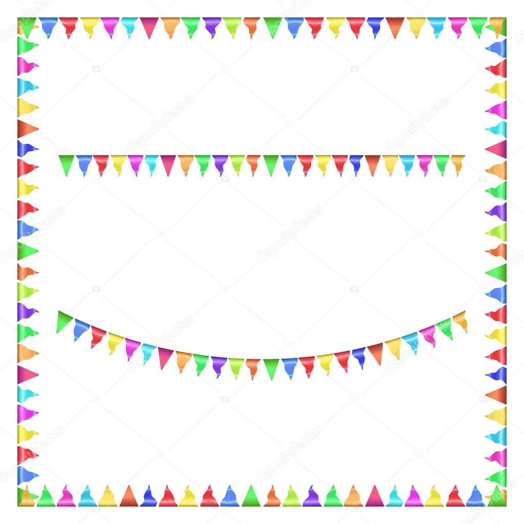 Party flags. Vector