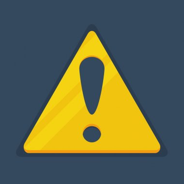 Flat Warning Sign icon