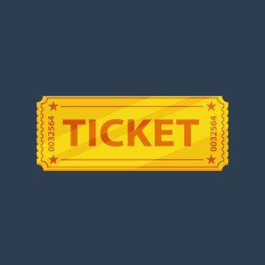 Flat ticket icon