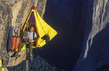 Climber on the edge.