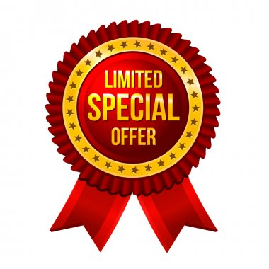 Lbel Limited Special Offer with ribbons Vector