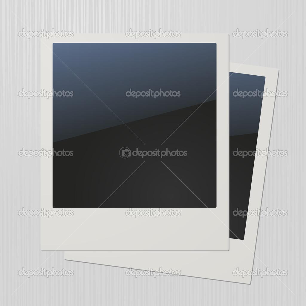 zwei leere retro Polaroid-Bilderrahmen — Stockvektor © in8finity ...