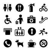 vektor International Service známky icon set