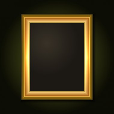 Gold Picture Frame with Dark Canvas