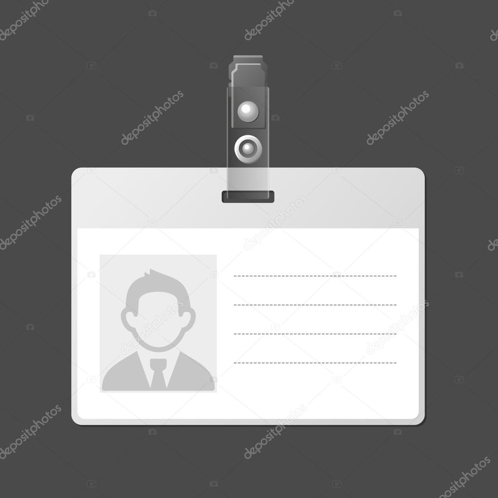 tarjeta de identificación en blanco placa id la plantilla. Vector ...