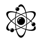 Photo Atom Part on White Bakground. Vector