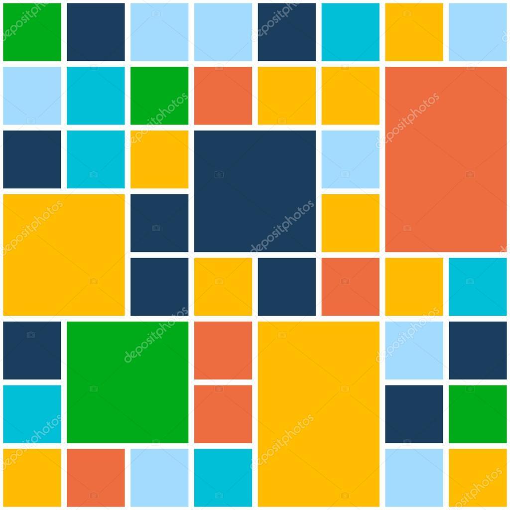 Quadrate Farbe Hintergrund. Vektor Vorlage für flache Design ...