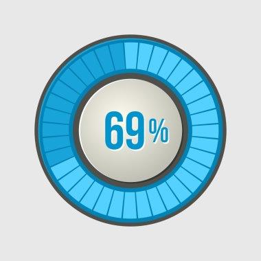 Ring Loading Progress Bar on Light Background. Vector illustration clip art vector