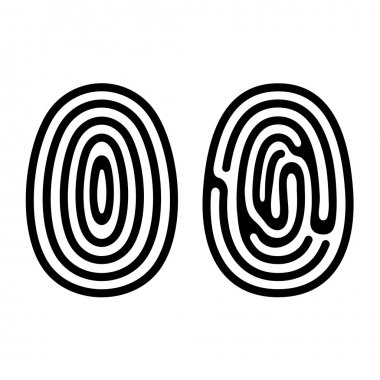 Fingerprint Icons Set on White Background. Vector.