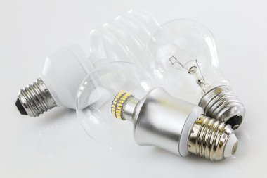 LED, CFL and classic tungsten