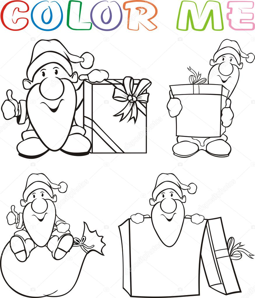 el color me - santa claus — Vector de stock © ciuciumama #14074164
