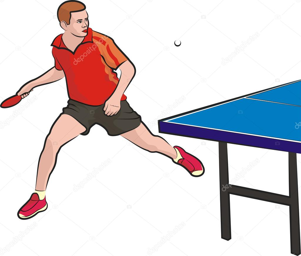 Table Tennis Player Stock Vector 169 Ciuciumama 16890221