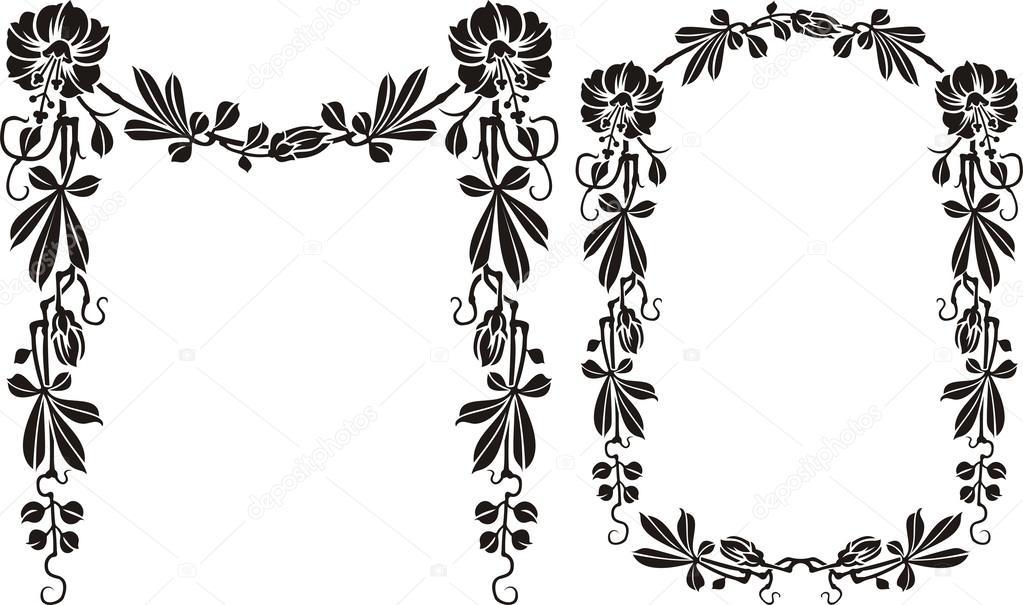 Fotos: siluetas de flores en blanco y negro   Marco Flores - blanco ...