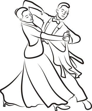 Ballroom dancing - dancing couple
