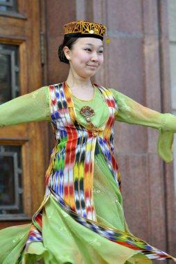 Uzbek dancer in national clothes