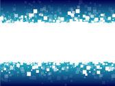 modré futuristické pozadí abstraktní bílé čtverce