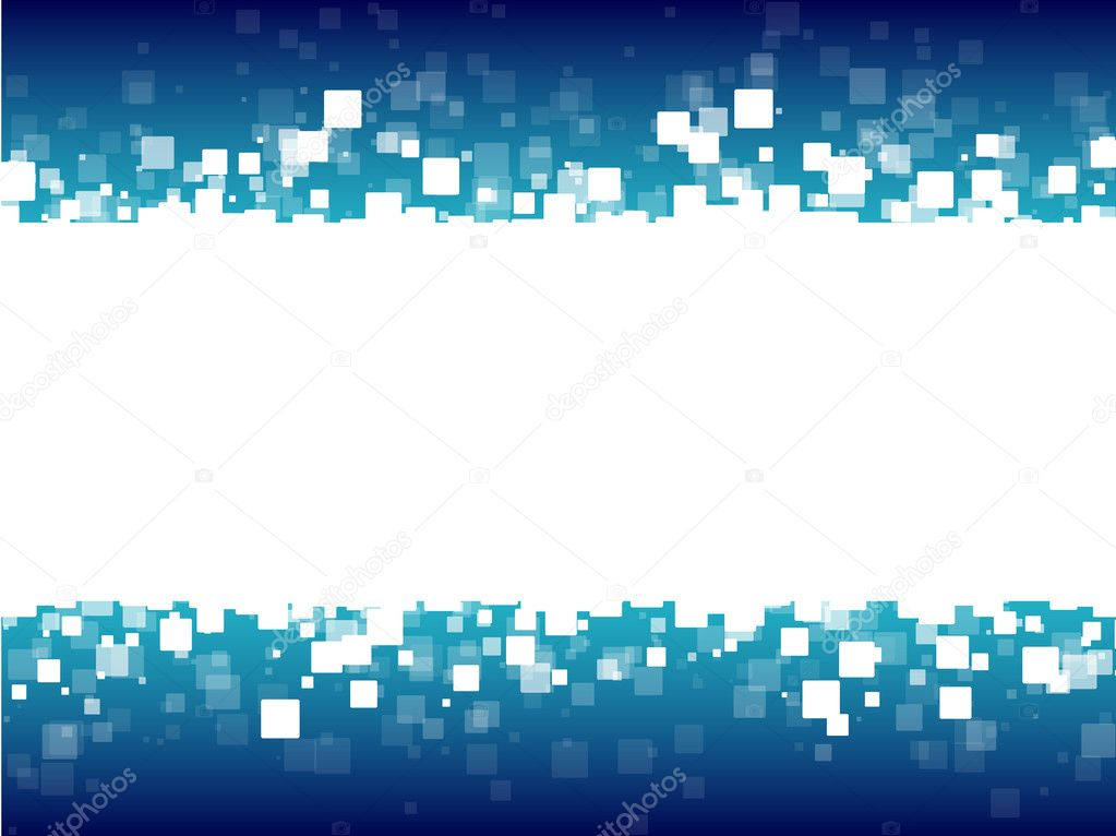 Abstract blue futuristic background white squares