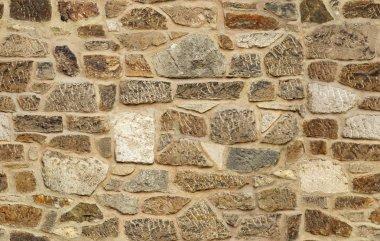 Seamless ashlar old stone wall texture background stock vector