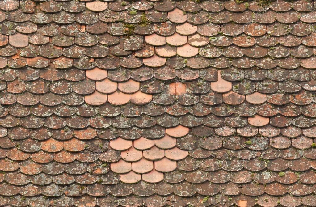 Dachziegel textur seamless  rot alte Dachziegel repariert Textur — Stockfoto #18230637