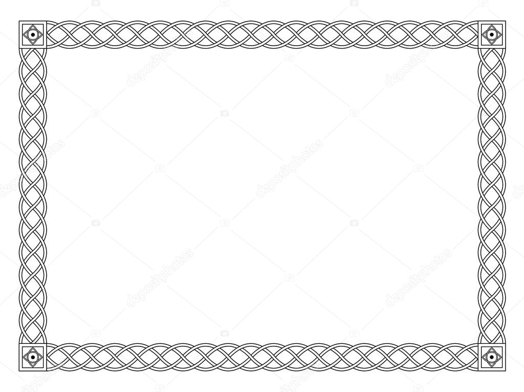 Gothic Simple Black Ornamental Decorative Frame Stock Vector