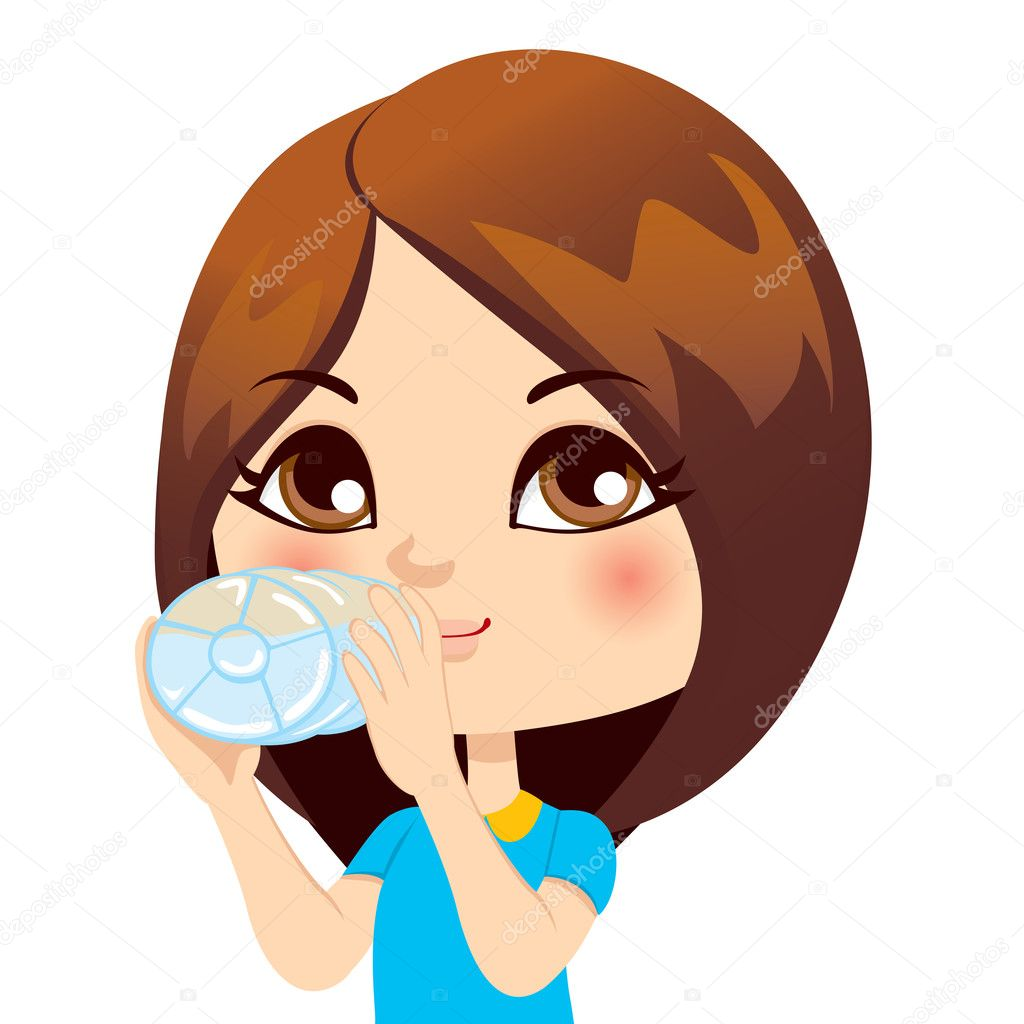 child drinking water stock vectors, royalty free child drinking