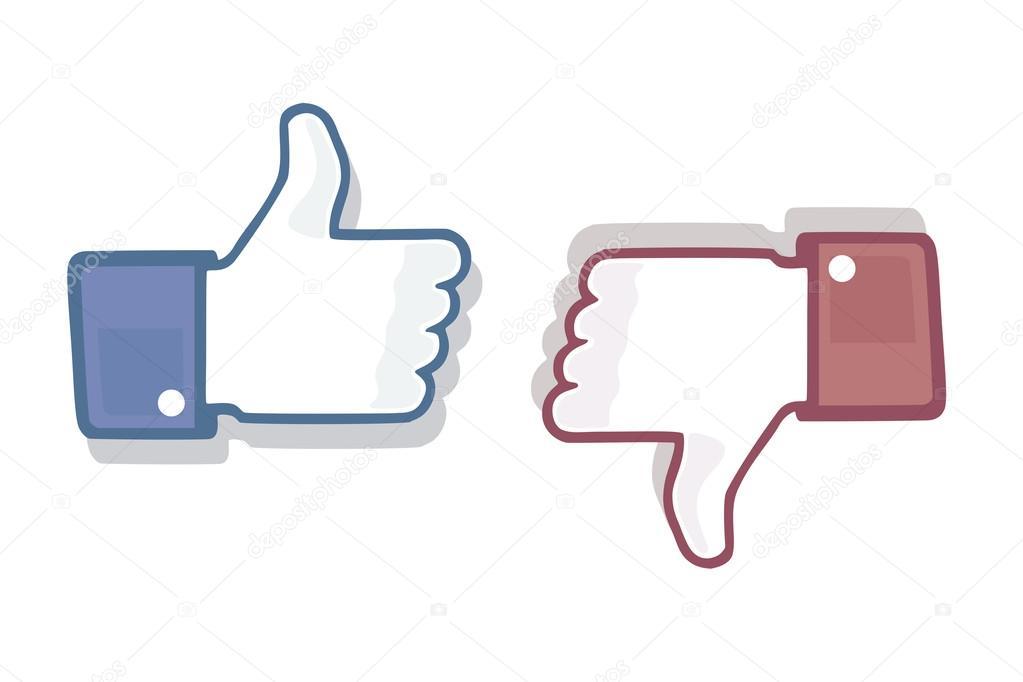 Thumb Up Like Dislike Symbol Stock Photo Croisy 46452233