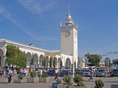 Crimea. The railway station in Simferopol
