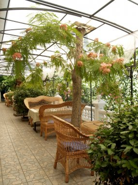 Summer cafe in Yalta