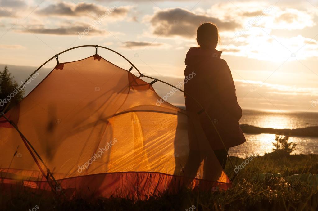 camping near seaside in Norway