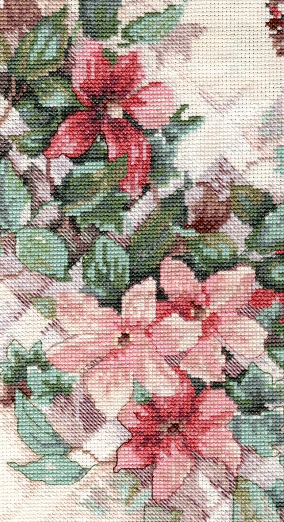 Detail flower embroidery