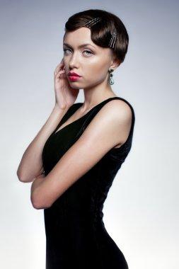 The girl in black dress