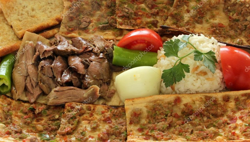 Kebab and Turkish Pizza