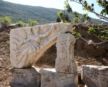 Stone Carving of the Greek Goddess Nike, Ephesus