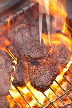 Rib eye beef steak