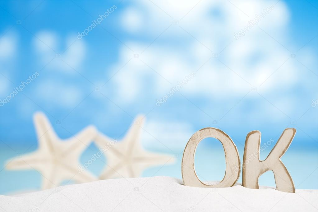 OK message with two starfish