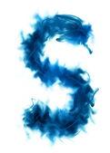 Fotografie blauer rauch