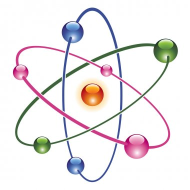 Vector abstract atom icon